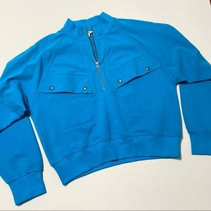 Vintage Wrangler Blue Pullover Cropped Sweater XS